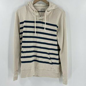 J.Crew Striped Pullover Hoodie
